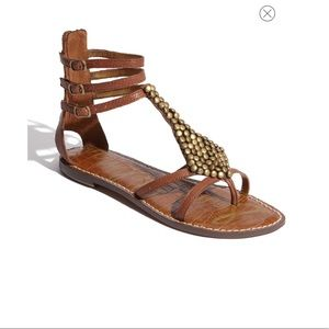 Sam Edelman Ginger Gladiator Sandal Saddle Brown 6